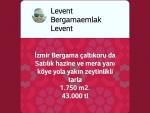 İzmir Bergama çaltıkoru da Satılık hazine ve mera yanı köye yola yakın