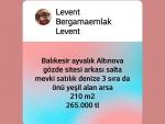 İzmir bergama fevzipaşa mah satılık 3 kata imarlı arsa 250 m2.